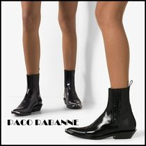 paco rabanne Casual Style Plain Leather Office Style Boots Boots