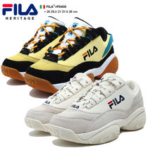 FILA Unisex Suede Faux Fur Street Style Bi-color Leather