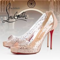 Christian Louboutin Platform Suede PVC Clothing With Jewels
