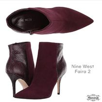 Nine West Casual Style Blended Fabrics Plain Leather Pin Heels