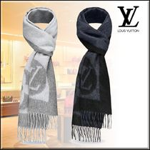 Louis Vuitton MONOGRAM Monogram Wool Cashmere Blended Fabrics Bi-color Fringes