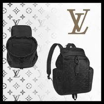 Louis Vuitton Monogram Street Style A4 Leather Backpacks