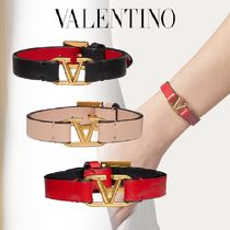 VALENTINO Casual Style Initial Leather Elegant Style Formal Style