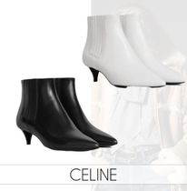 CELINE Wedge Casual Style Plain Elegant Style Wedge Boots