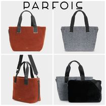 PARFOIS Casual Style Bag in Bag A4 2WAY Plain Office Style Totes