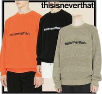 thisisneverthat Unisex Street Style Knits & Sweaters