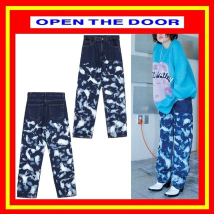 OPEN THE DOOR More Jeans Unisex Street Style Cotton Jeans