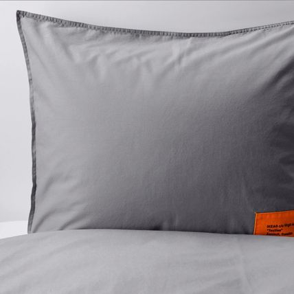Unisex Collaboration Plain Comforter Covers Black & White
