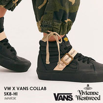 Vivienne Westwood Unisex Street Style Collaboration Plain Leather Sneakers