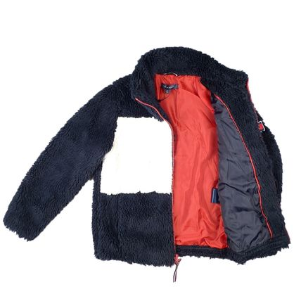 Short Casual Style Unisex Oversized Shearling Jackets