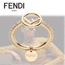 FENDI F IS FENDI Casual Style Party Style Office Style Elegant Style Rings