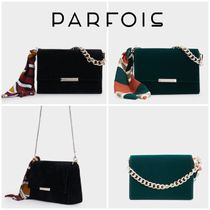 PARFOIS 2WAY Chain Plain Party Style Elegant Style Party Bags