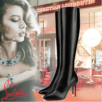 Louis Vuitton Casual Style Plain Pin Heels Elegant Style High Heel Boots