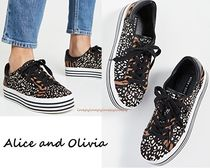 Alice+Olivia Casual Style Other Animal Patterns Leather Low-Top Sneakers
