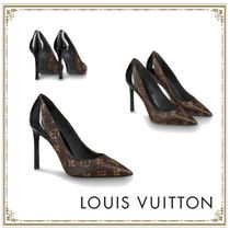 Louis Vuitton Plain Leather Pin Heels Party Style Office Style