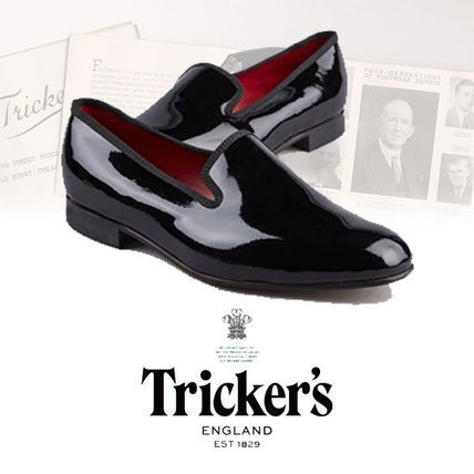 Plain Leather U Tips Loafers & Slip-ons