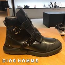DIOR HOMME Plain Leather Engineer Boots