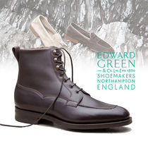 Edward Green Mountain Boots Plain Leather U Tips Outdoor Boots