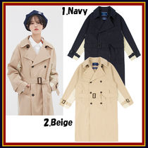 ROMANTIC CROWN Unisex Collaboration Trench Coats