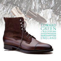 Edward Green Suede Street Style Plain Boots