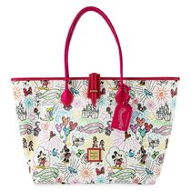 Disney Casual Style Collaboration A4 Leather Logo Totes