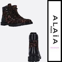 Azzedine Alaia Rubber Sole Mid Heel Boots