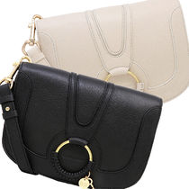 See by Chloe 2WAY Plain Leather Crossbody Shoulder Bags