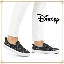 Disney Casual Style Leather Slip-On Shoes