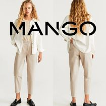 MANGO Denim Plain Cotton Long Wide & Flared Jeans