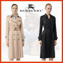 Burberry Medium Long Office Style Elegant Style Trench Coats