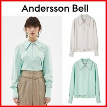 ANDERSSON BELL Casual Style Long Sleeves Plain Shirts & Blouses