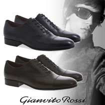 Gianvito Rossi Plain Leather Oxfords