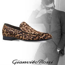 Gianvito Rossi Leopard Patterns Loafers Leather Loafers & Slip-ons