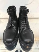 Saint Laurent Leather Logo Engineer Boots