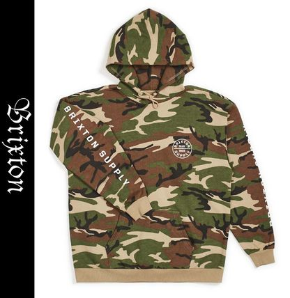 Pullovers Camouflage Street Style Long Sleeves Logo