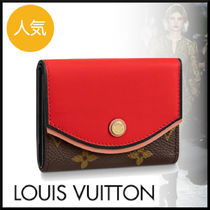 Louis Vuitton TUILERIES Monogram Leather Small Wallet Logo Folding Wallets