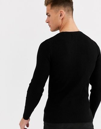 ASOS Crew Neck Pullovers Long Sleeves Plain Street Style Sweaters