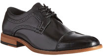 STACY ADAMS Straight Tip Plain Toe Leather Oxfords