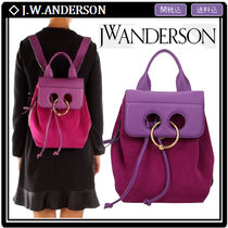 J W ANDERSON Pierce Casual Style Suede 2WAY Leather Backpacks