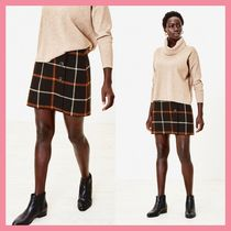 Lipsy Pencil Skirts Short Other Check Patterns Wool Mini Skirts