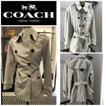 Coach Casual Style Plain Medium Office Style Trench Coats