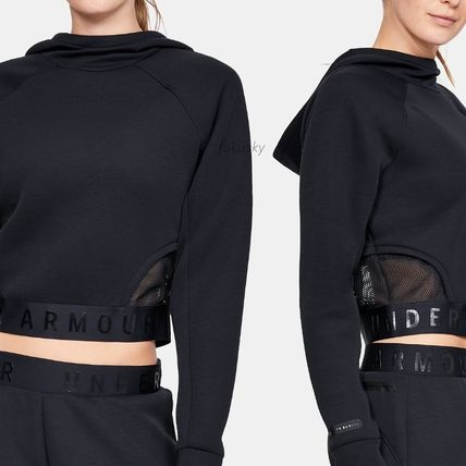 Short Sweat Street Style Long Sleeves Logo Cropped