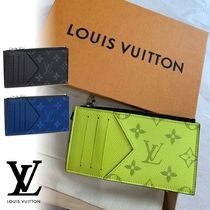 Louis Vuitton MONOGRAM Monogram Unisex Canvas Leather Card Holders