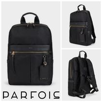 PARFOIS Casual Style A4 2WAY Plain Office Style Backpacks