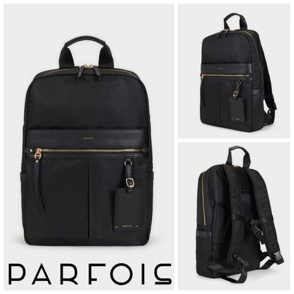 Casual Style A4 2WAY Plain Office Style Backpacks