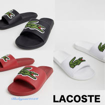 LACOSTE Unisex Blended Fabrics Street Style Plain Shower Shoes