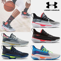 UNDER ARMOUR CURRY Unisex Blended Fabrics Street Style Sneakers