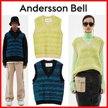 ANDERSSON BELL Stripes Casual Style Unisex Wool Nylon Medium Vests