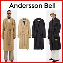 ANDERSSON BELL Unisex Plain Long Trench Coats