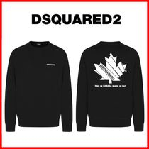 D SQUARED2 Unisex Long Sleeves Cotton Sweatshirts